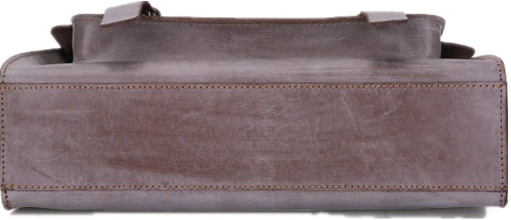 Mens Briefcase Mens First layer cowhide Laptop Bag Office Briefcase Huge Shoulder Bag Water Resistant Business Messenger Briefcases for Men Women Crossbody bag Fits 13 Inch Laptop Tablet Brown for