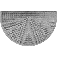 Bungalow Half Moon Mat Squares Medium Gray