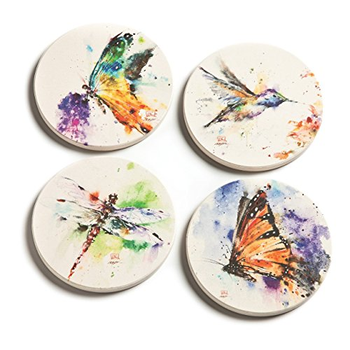 Demdaco 3005050286 Big Sky Carvers Dean Crouser Nature Coaster Set ()