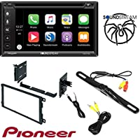 Soundstream VRCP-65 6.2 CD DVD Bluetooth iPhone Apple Carplay Sirius XM Ready Car Radio Stereo CD Player Dash Install Mounting Trim Panel Kit Harness Antenna