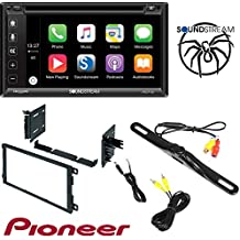 "Soundstream VRCP-65 6.2"" CD DVD Bluetooth iPhone Apple Carplay Sirius XM Ready Car Radio Stereo CD Player Dash Install Mounting Trim Panel Kit Harness Antenna"