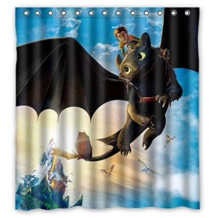 Hiccup and Toothless How to Train your Dragon Custom Shower Curtain ...