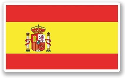 2 x 20cm/200 mm España Bandera española Etiqueta autoadhesiva de vinilo adhesivo portátil de viaje equipaje signo coche divertido #5271: Amazon.es: Coche y moto