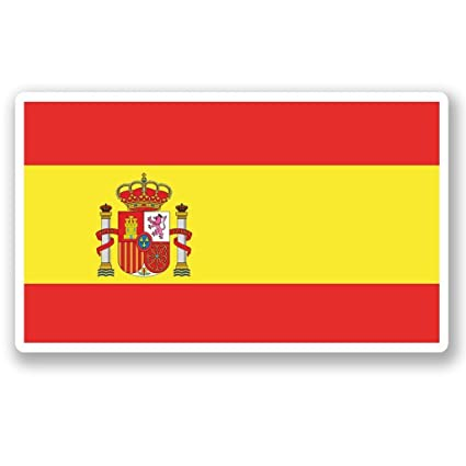 2 x 15cm/150 mm España Bandera española Etiqueta autoadhesiva de ...