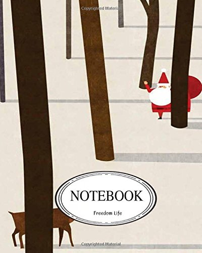 """Notebook: Santa and deer : Pocket Notebook Journal Diary, 110 pages, 8"""" x 10"""" (Notebook Lined,Blank No Lined) pdf"""