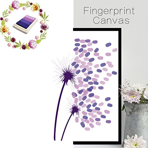 - Grand_market New Home Decoration Fingerprint Canvas Dandelion Pattern Autograph Painting for Wedding,Party,Birthday,Room with Inkpad-Style Option-FPBD006