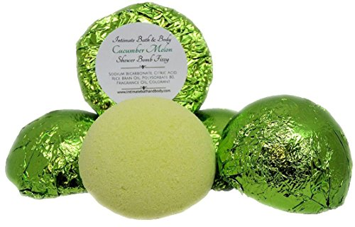 Shower Bomb Fizzies! 5 Pack Aromatherapy Shower Steamers - Cucumber Melon