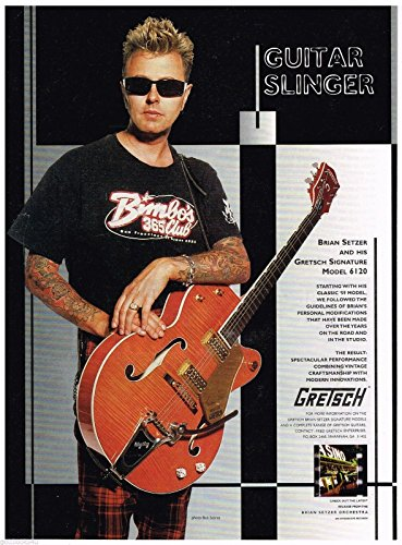 Gretsch Signature Model Guitars - Brian Setzer - 1997 Advertisement ()