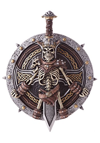 Viking Lord Shield and Sword Set, Silver/Gold/Brown