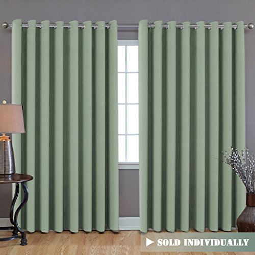 Sliding Divider (Ultra Blackout Wider Curtain, Extra Long and Wide Thermal Insulated Large Window Panel (100
