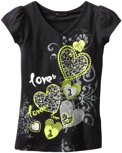 Baby Phat - Kids Big Girls' Love Print Tee, Black, Large
