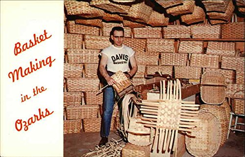 Basket Making In The Ozarks Camdenton, Missouri Original Vintage Postcard