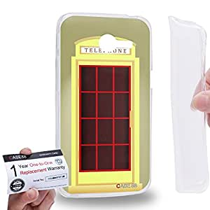 Case88 [Asus Zenfone 4 A400CG] Gel TPU Carcasa/Funda & Tarjeta de garantía - Art Design Yellow Telephone Box Art1703