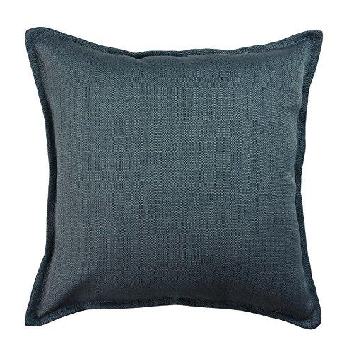 McAlister Savannah XX-Large Euro Sham Pillow Cover | 26x26 Semi-Plain Denim Blue |Woven Canvas Textured Zippered Accent Cushion Case Pillowcase Shams