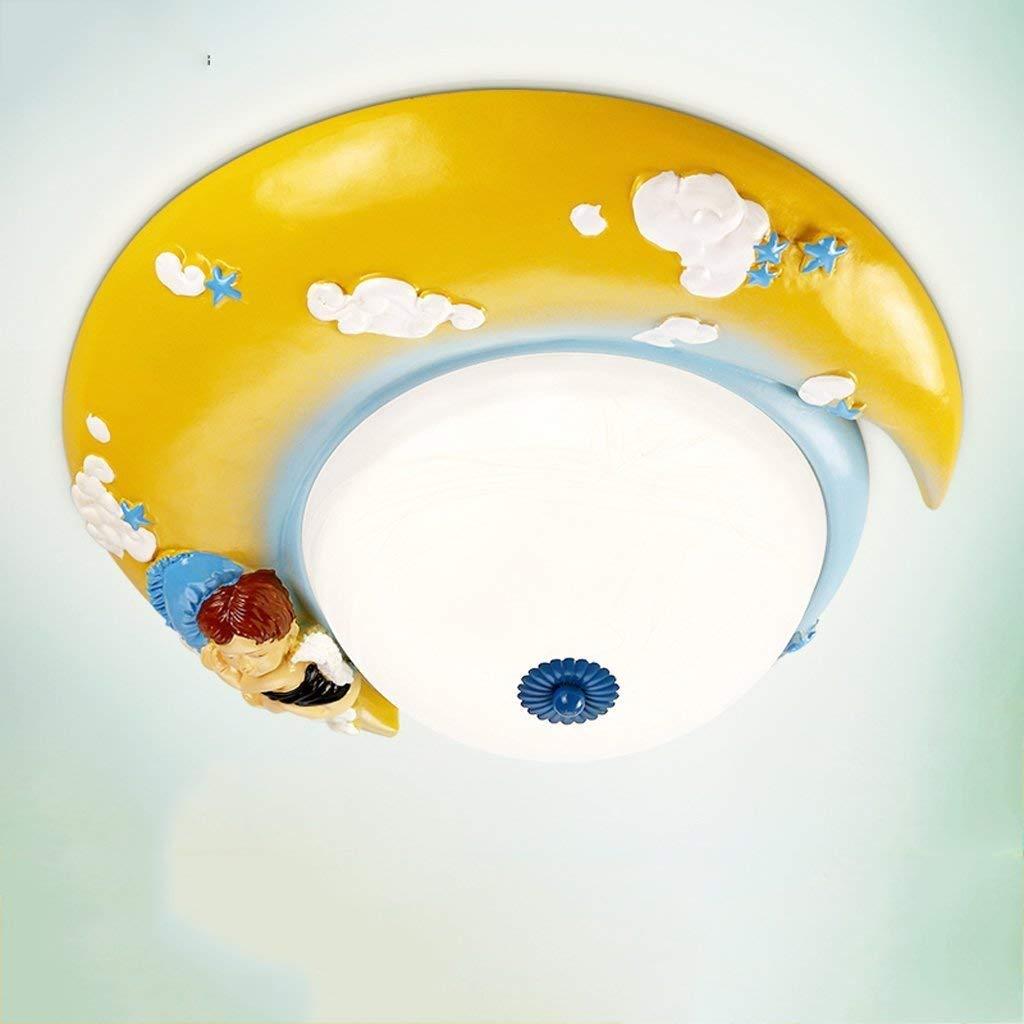 Haiyao 子供部屋天井ランプライト付き男の子d女の子の寝室かわいい保育園漫画現代クリエイティブ天井照明ランプ楽しいランプシェードダイニングルーム備品用学習室子供カラフルなデコ (Color : 黄) B07SCV1XRT 黄