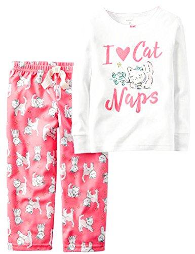 Carter's 2 Piece Cat PJ Set (2 T, I Love Cat Naps) - I Love Pj