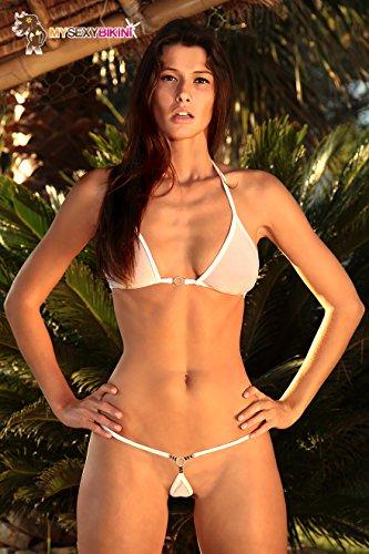 Micro Transparent Bikini Bain Tulle Noir De Blanc En Maillot Diam's Fine Rose Bleu String IqIxw