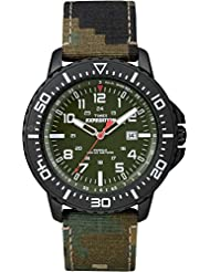 Timex Mens T49965 Expedition Uplander Green Camo Fabric Strap Watch