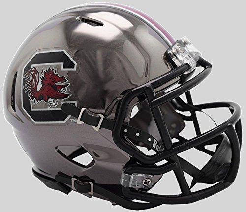 (Riddell NCAA South Carolina Fighting Gamecocks Unisex South Carolina Gamecocks Helmet Replica Mini Speed Style Chrome Alternatehelmet Replica Mini Speed Style Chrome Alternate, Team Colors, One)