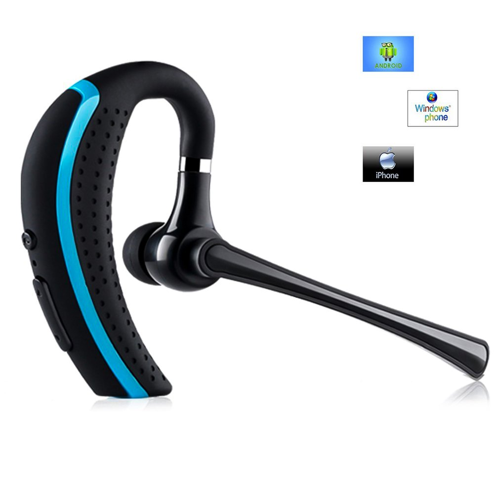 AGKupel Bluetooth Headset, Wireless Earpiece Hands Free Business Earphones In-ear Earbuds with Noise Canceling Mic for Business/Office/Driving, Work for iPhone/Samsung/Android Cell Phones