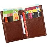ABYS Genuine Leather Bombay Brown Men Credit Card Holder||Money Purse||Pocket Wallet with 6 Card Slots