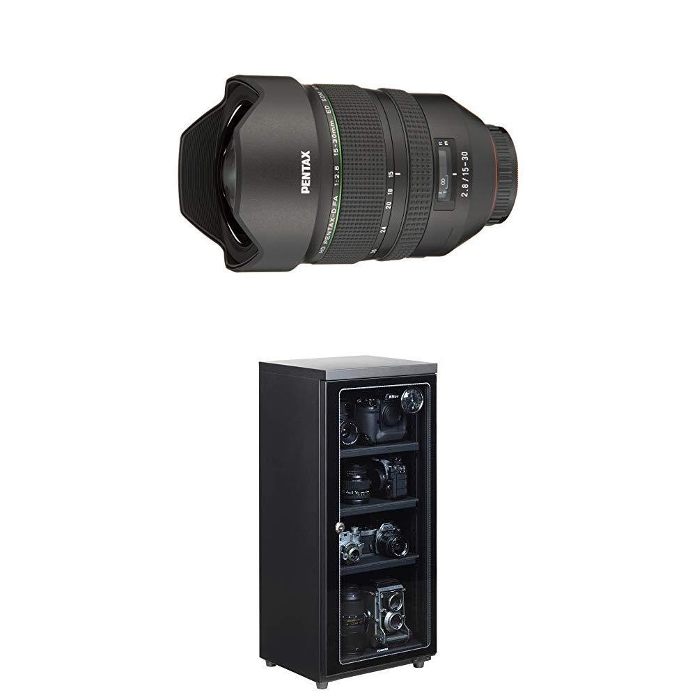 PENTAX 超広角ズームレンズ HD PENTAX-D FA 15-30mmF2.8ED SDM WR 21280 + HAKUBA 電子防湿庫 E-ドライボックス 80リットル KED-80セット   B07KSB4B16