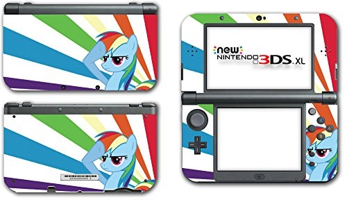 My Little Pony Friendship is Magic MLP Rainbow Dash Video Game Vinyl Decal Skin Sticker Cover for the New Nintendo 3DS XL LL 2015 System Console (My Little Pony Xbox)