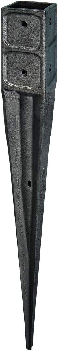 Bodeneinschlagh/ülse Pfostenhalter Einschlagh/ülse f/ür Holzpfosten 7x7cm 1 Stk.