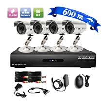 LightInTheBox Ultra Low Price 4CH CCTV DVR Kit (4 Outdoor Waterproof 600TVL Color Cameras)