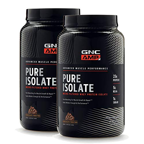 GNC AMP Pure Isolate - Chocolate Frosting - Twin Pack