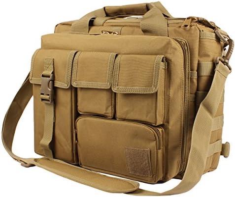 """GES Multifunktion Herren Dame Outdoor Militärische Taktische Nylon Schulter Laptop Umhängetasche Aktentasche Handtaschen Laptop Tasche Schultasche Große Genug für 15.6 """"Laptop / Kamera"""