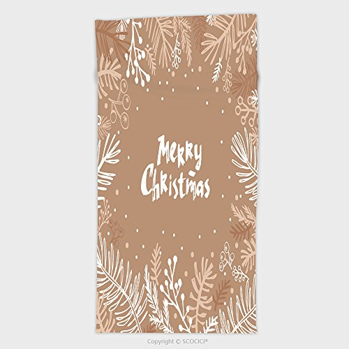 11.8W x 27.5L Inches Custom Cotton Microfiber Ultra Soft Hand Towel Hand Drawn Christmas Card Holiday Christmas Background Unique Hand Drawn Design Vector 525907087 Tiger Woods Christmas Card