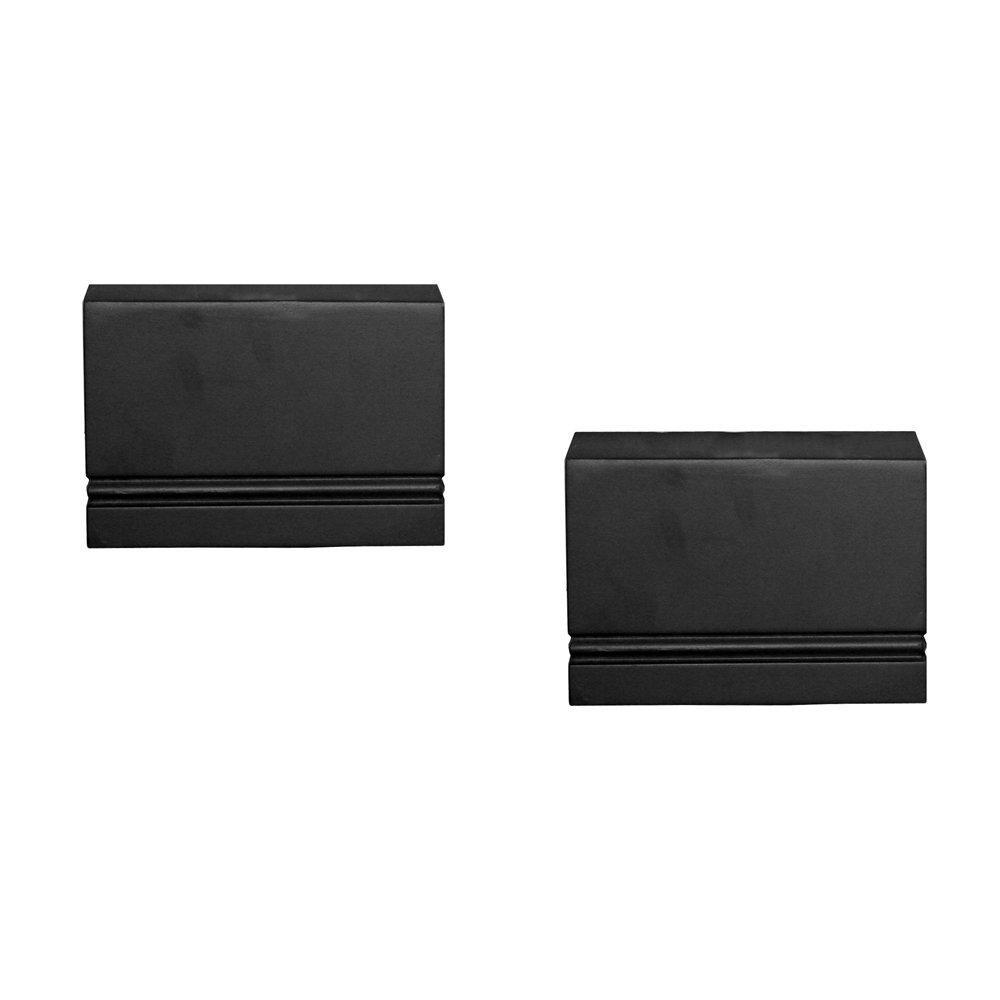 InPlace Shelving 0191380 Pair of 6-Inch Wide Warwick Wall Mountable Shelf Sconces Set, Black