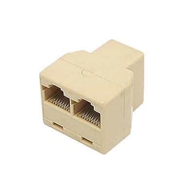 sourcingmap® Ethernet RJ45 3 Way Network Cable Splitter Extender ...