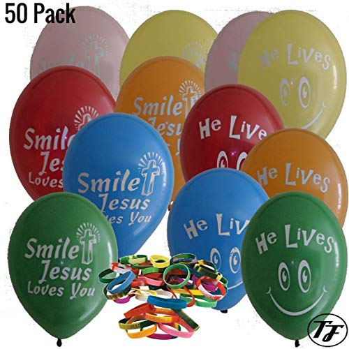 Religious Balloons - Truth Fanatic Jesus Themed Latex Balloons - Unique Double-Sided Imprint - Christian Cross