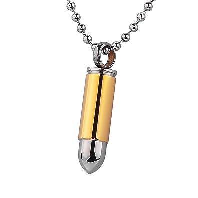 Stainless steel polished bullet shape urn pendant necklace stainless steel polished bullet shape urn pendant necklace memorial ash keepsake cremation jewellery aloadofball Images