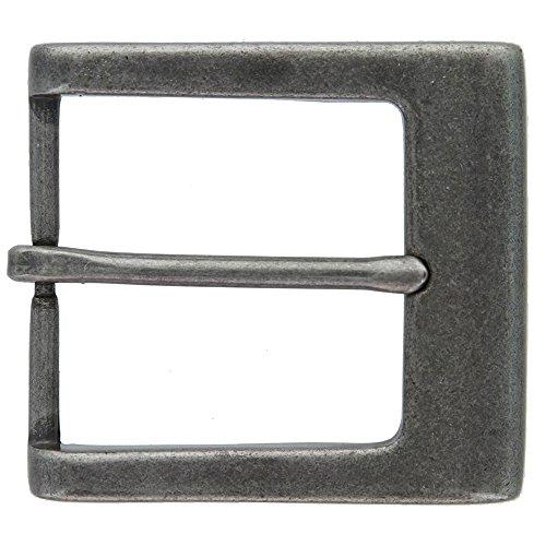 Square Heel Bar Single Prong Center Bar Belt Buckle 1-1/2