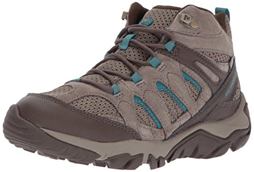 Merrell Women's Outmost Mid Vent Waterproof Hiking Boot, Boulder, 8 M (Womens Boulder)