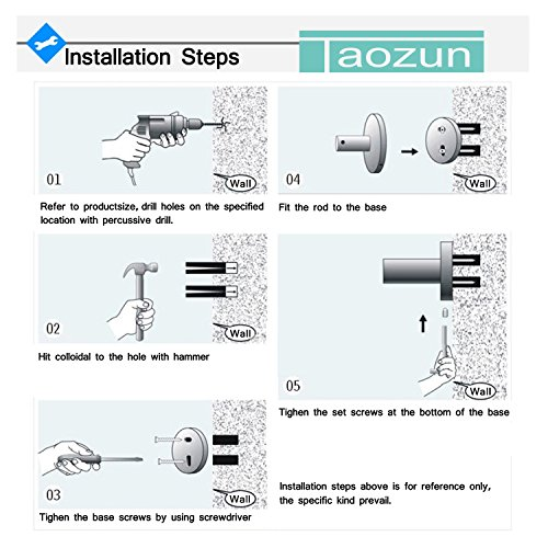 Taozun SUS 304 Stainless Steel Square Coat and Robe Hook Wall Mount Brushed Nickel chic