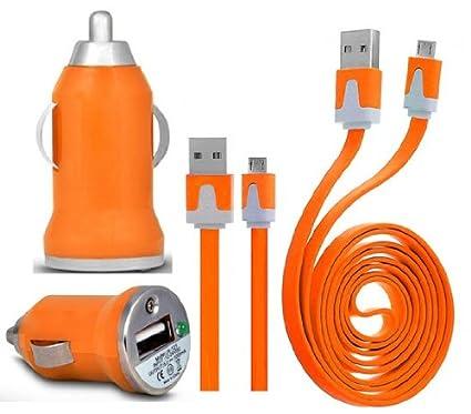 Wayzon naranja para automóvil cargador de coche con forma de ...