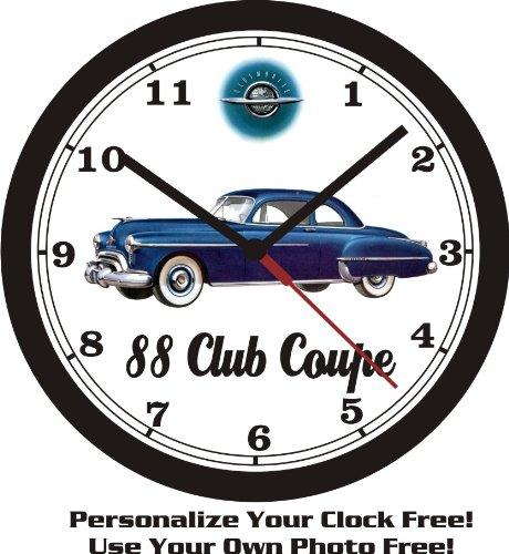 1950 OLDSMOBILE 88 CLUB COUPE WALL CLOCK-FREE USA SHIP!