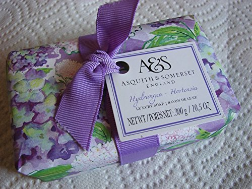 Asquith & Somerset HYDRANGEA 10.5 Oz Perfumed Bath Soap, Gift Wrapped, imported from England ()