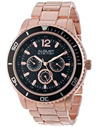 August Steiner Men's AS8059RG Quartz Multi-Function Divers Bracelet Watch