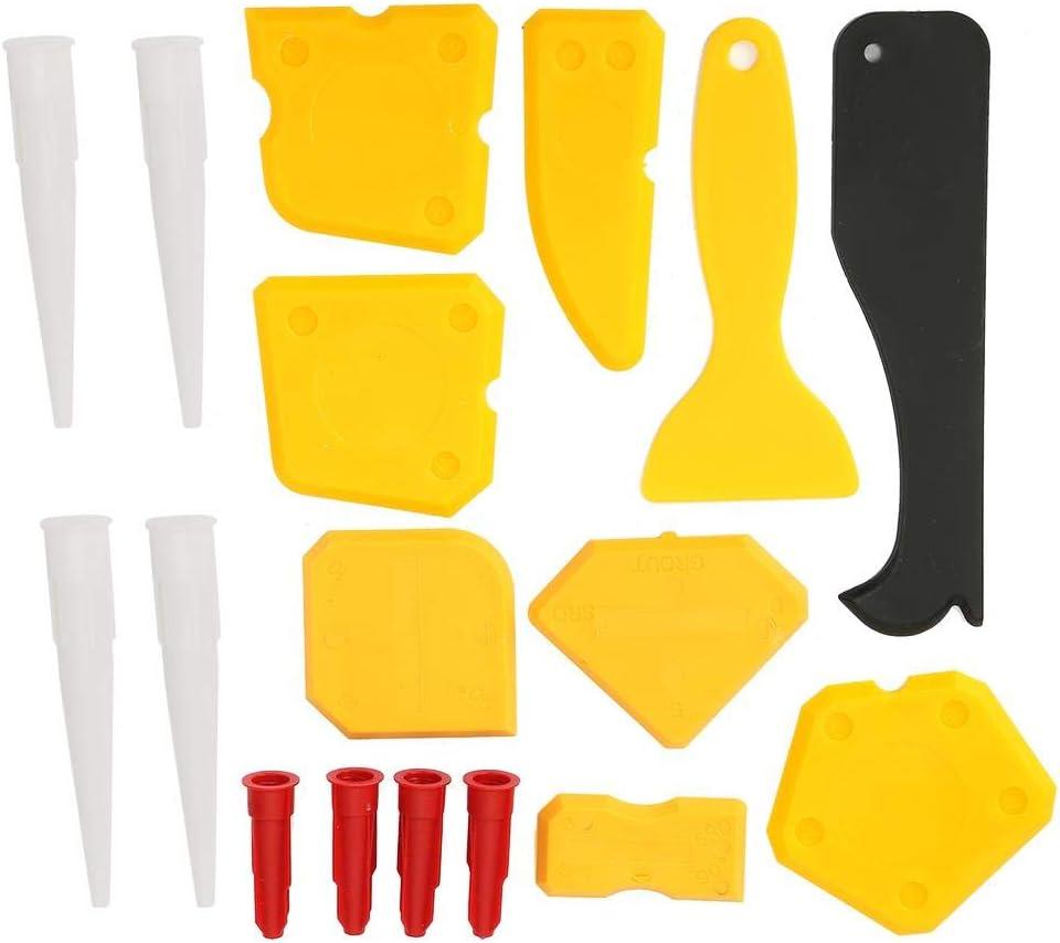 17pcs//set Raspador de calafateo Aplicador Limpiador Removedor Juego de herramientas de raspador de cemento de vidrio de silicona Raspador de vidrio