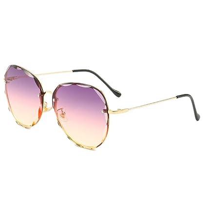 ZYG.GG Gafas de Sol sin Marco Señoras Lentes Gafas de Sol de ...