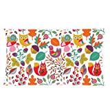 Custom Cartoon Owl with Flower Rectangle Soft Pillow Case Standard Size 20x36