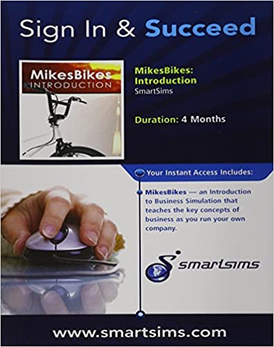 ad72543054f MikesBikes-Intro Simulation, 1 term (6 months) Printed Access Card 1st  Edition