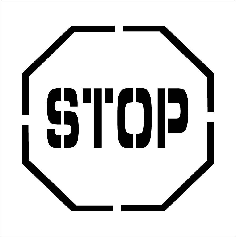 National Marker Corp. PMS203 Stop Symbol Plant Marking Stencil