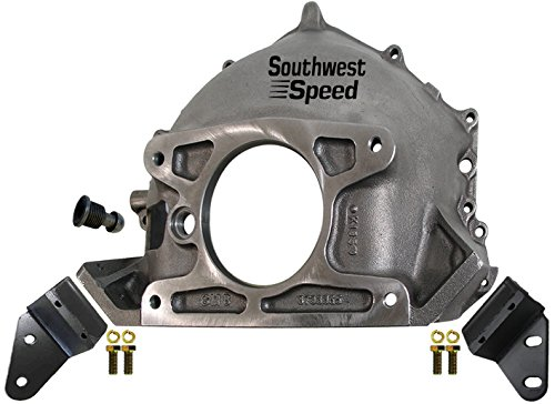 NEW 55-57 CHEVY 365 BELLHOUSING, CLUTCH BALL, & REAR ENGINE MOUNTING BRACKETS, STAMPED WITH #GM 3733365, DIRECT REPLACEMENT FOR SBC & BBC V-8 ENGINES WITH MANUAL TRANSMISSIONS, TRI-5 BEL AIR