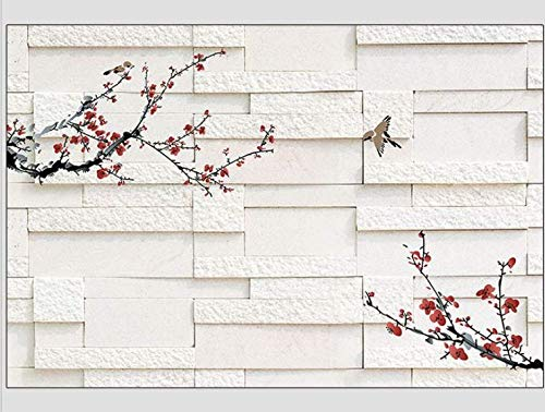Dune Plum - Depending on The Background Wall Paper 3D Wall Brick Plum Seamless Large Mural, 350245cm